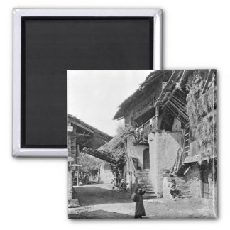 Village of Valais, early 20th century Magnet