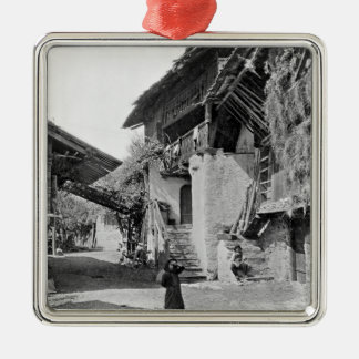 Village of Valais, early 20th century Metal Ornament