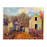 Village of Voisins  by Sisley Postcard