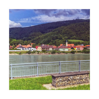 Village of Willendorf on the river Danube, Austria Canvas Print
