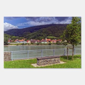 Village of Willendorf on the river Danube, Austria Yard Sign