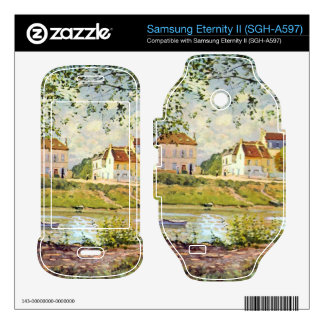 Village on the banks of the Seine by Alfred Sisley Samsung Eternity II Skins