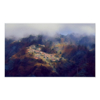 Village on the Mountains Poster/Print Poster