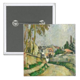 Village Road, 1879-82 (oil on canvas) 2 Inch Square Button