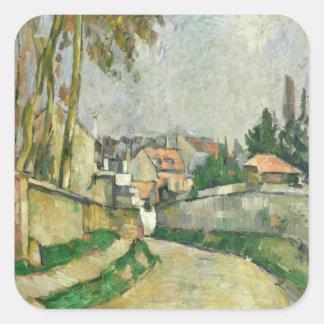 Village Road, 1879-82 (oil on canvas) Square Sticker