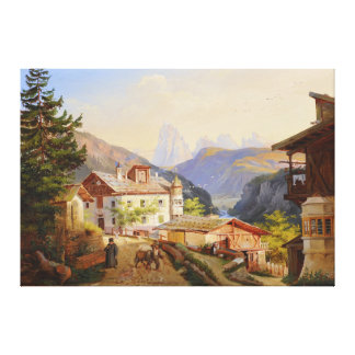 Village scene of St Peter Josef Arnold the Younger Canvas Print
