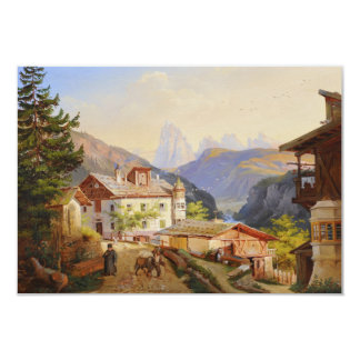 Village scene of St Peter Josef Arnold the Younger Card