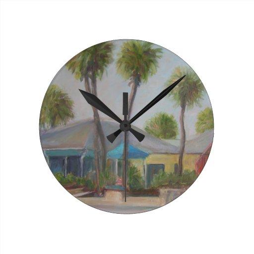 VILLAGE SHOPS Wall Clock