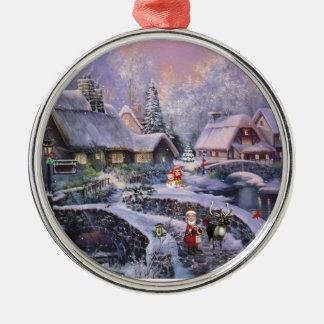 Village Snow Christmas Tree Ornament