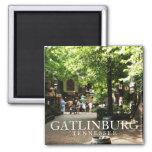 Village square in Gatlinburg, Tennessee souvenir 2 Inch Square Magnet