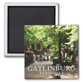 Village square in Gatlinburg, Tennessee souvenir Magnet