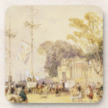 Village Square in the Bay of Hong Kong, plate 5 fr Beverage Coaster