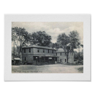 Village Store, New Providence, New Jersey Vintage Poster