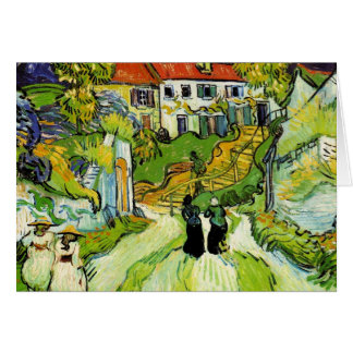 Village Street and Steps Greeting Card