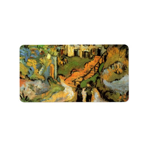 Village Street and Steps in Auvers - van Gogh Personalized Address Labels