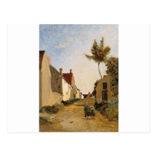 Village Street by Frederic Bazille Postcard