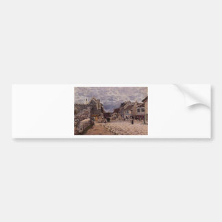 Village Street Grey Weather by Alfred Sisley Bumper Sticker