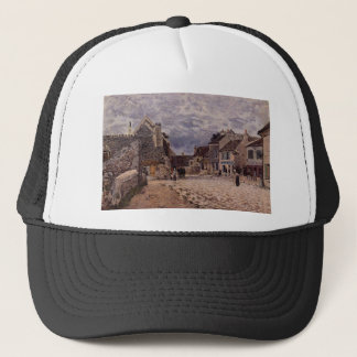 Village Street Grey Weather by Alfred Sisley Trucker Hat