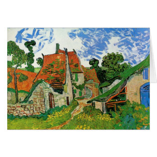 Village Street in Auvers Card
