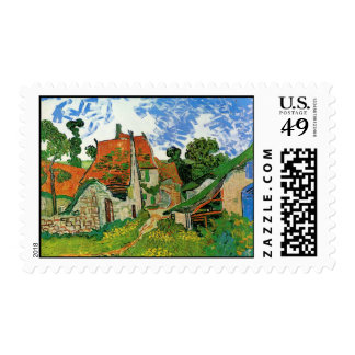 Village Street in Auvers Stamps