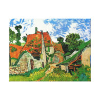 Village Street in Auvers, Vincent van Gogh Gallery Wrapped Canvas