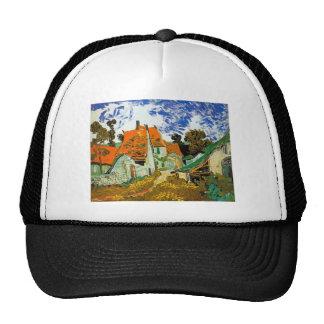 Village street in Auvers, Vincent van Gogh Mesh Hats