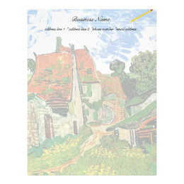 Village Street in Auvers, Vincent van Gogh Letterhead