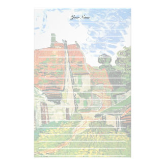 Village Street in Auvers, Vincent van Gogh Stationery