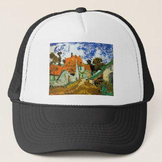 Village street in Auvers, Vincent van Gogh Trucker Hat