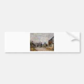 Village Street Louveciennes by Alfred Sisley Bumper Sticker