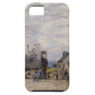 Village Street Louveciennes by Alfred Sisley iPhone SE/5/5s Case