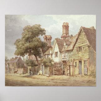 Village Street Poster