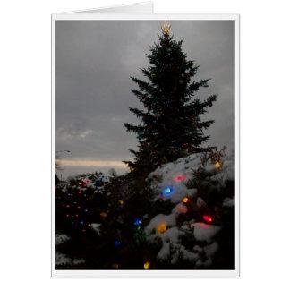 Village Tree blank folded card