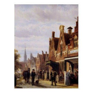 Village view by Cornelis Springer Postcard