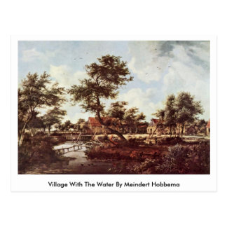 Village With The Water- By Meindert Hobbema Postcard