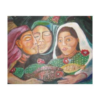 Village Women by Ruth Olivar Millan Canvas Print