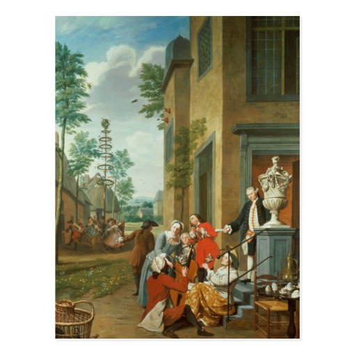 Villagers Merrymaking Postcard