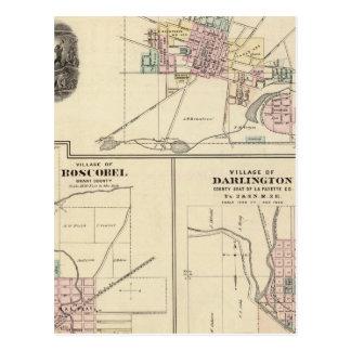 Villages of Platteville, Boscobel and Darlington Postcards