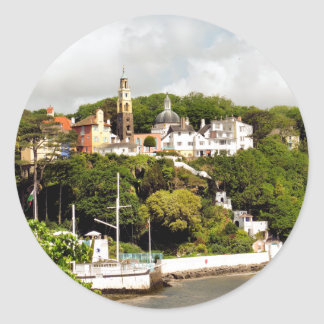 VILLAGES OF WALES CLASSIC ROUND STICKER