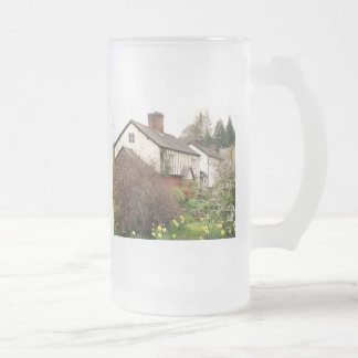 VILLAGES OF WALES FROSTED GLASS BEER MUG