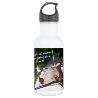 Villainous chicken stainless steel water bottle