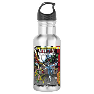 Villains Unleashed Cover Water Bottle