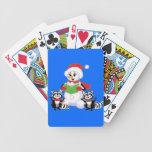 Villancico de los mapaches y del navidad del muñec baraja de cartas