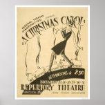 Villancico del navidad de Dickens WPA 1938 Posters