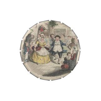 Villancico del navidad de la bola del navidad de F Frascos De Dulces