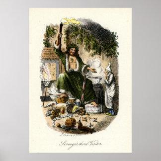Villancico del navidad - fantasma del regalo de póster