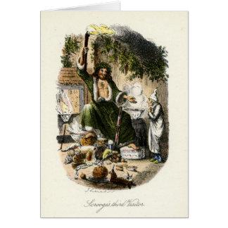 Villancico del navidad - fantasma del regalo de tarjeta de felicitación