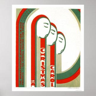 Villancico Dickens del navidad WPA 1938 Impresiones
