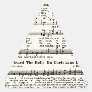 Villancicos del navidad: Alegría al mundo Colcomanias Trianguladas Personalizadas