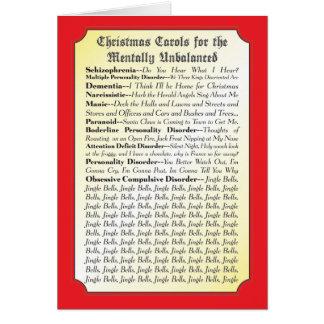 Villancicos del navidad para cada uno tarjeta dive